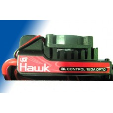 SJ-HAWK 120A PROGAMMABLE BRUSHLESS OPTO ESC W/ FAN (4-12 CELL LIPO)