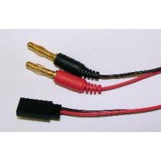 Charge Lead JR/Hitec / 4mm Bullet Connectors