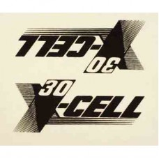 0661  X-Cell 30 Decal Logo