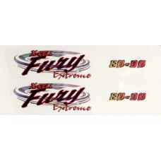120-20  Fury Extreme Logo Decal
