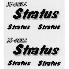 126-75  Stratus Decal Logo Sheet